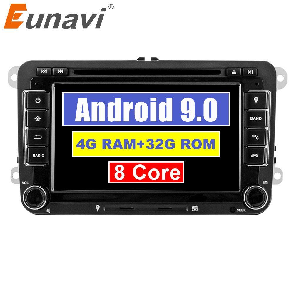 Eunavi Octa Core Android 9.0 2 Din Auto dvd player Für VW GOLF JETTA POLO TOURAM PASSAT B6 GPS Navi Stereo radio touchscreen usb