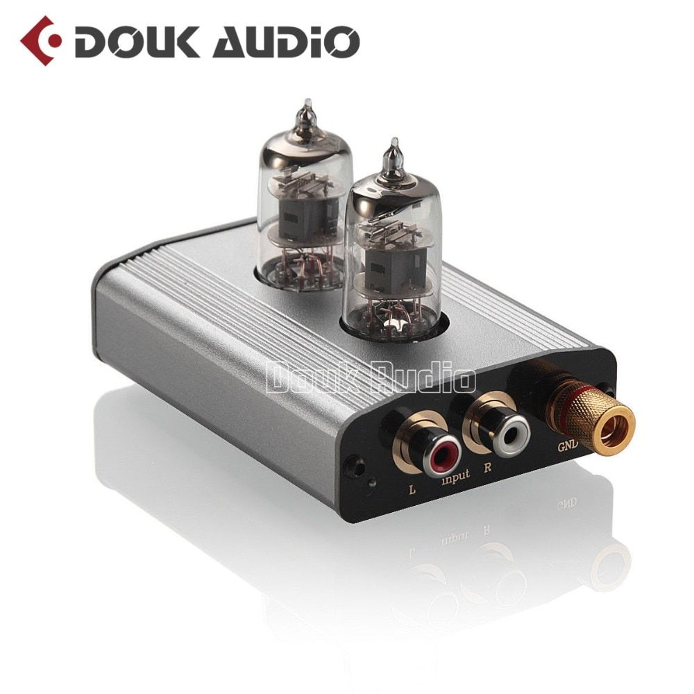 Douk Audio Mini 6J1 Vacuum Tube Phono Turntable Preamp MM / MC RIAA Hi-Fi Class A Pre-amplifier Free Shipping