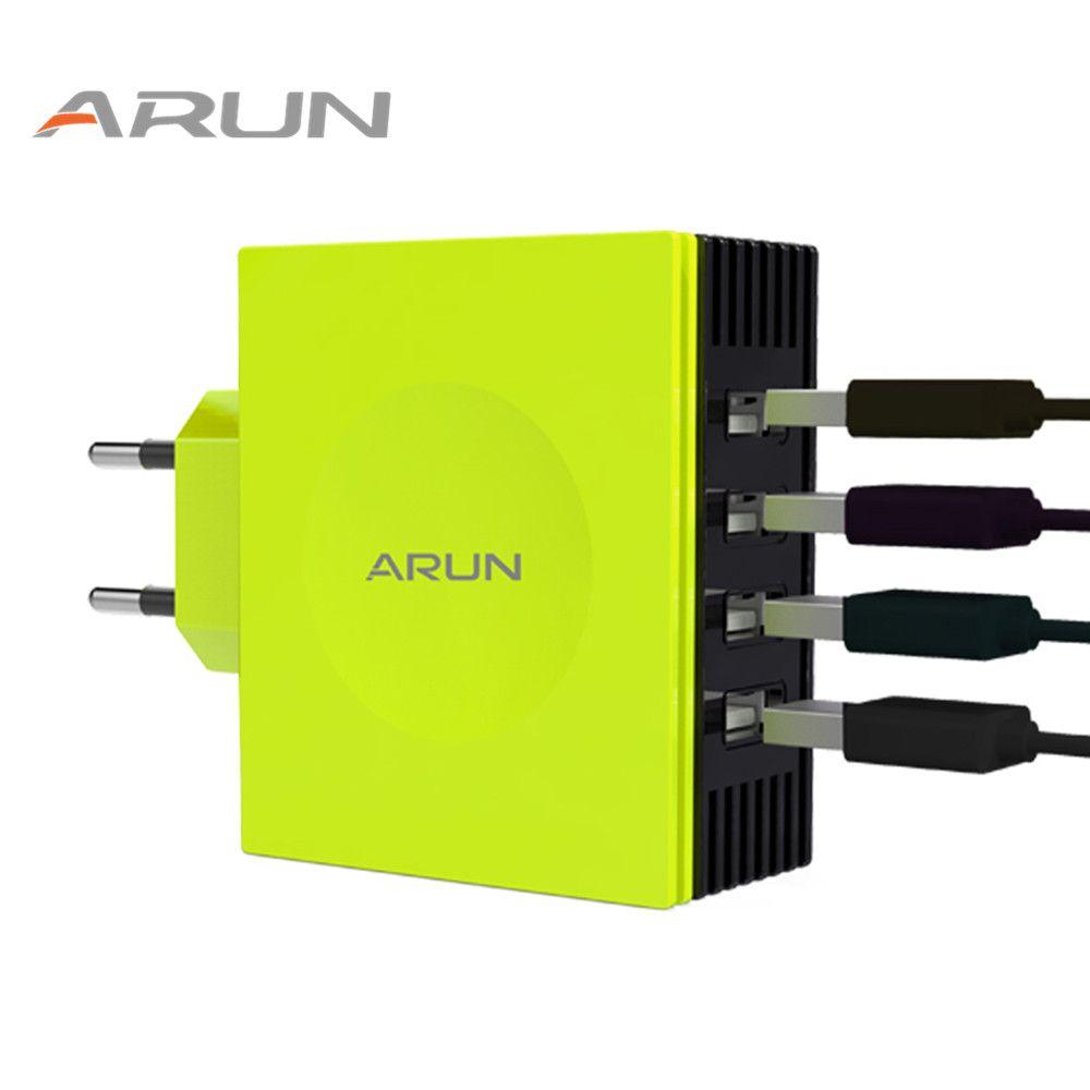 ARUN Coloré 4 Ports USB Charge Rapide Chargeur Multiple Adaptateur pour iPhone7 Samsung S6 Smart Téléphones/PC/Mp3 et USB Mobile dispositifs