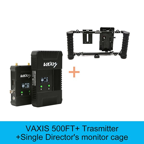 VAXIS 500ft+ 200M SDI HDMI 3G 1080P transmission Broadcast system Audio/Video Camera HD transmitter&Receiver Monitor Cage option