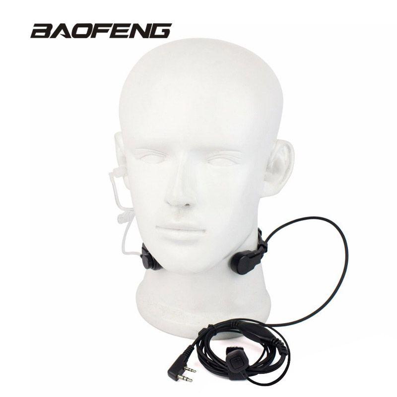 Extensible PTT Laryngophone Écouteur Micro Casque pour Baofeng Radio Talkie-walkie UV-5R 8 W UV-5RE UV-B5 GT-3