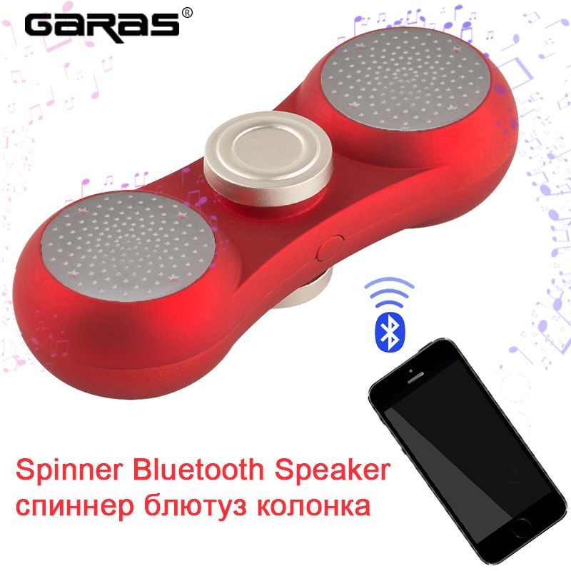 GARAS Bluetooth Speakers,Fidget Spiner Speaker Subwoofer mini/hand player column portable speaker stand for a laptop/phones