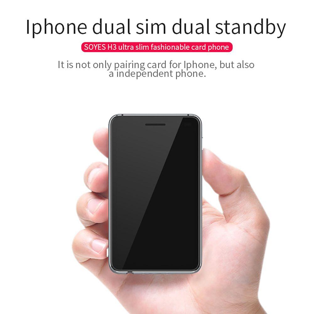 SOYES H3 Version 4 Double SIM Double Veille Intelligent Adaptateur Téléphone Ultra mince 8G Mémoire Podomètre Bluetooth Musique GSM Mini Carte Téléphone