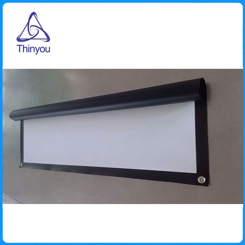 Thinyou 84inch 16:9 Projector Screen with Grommets Finished Edge White Curtain simple screen portable projection screen