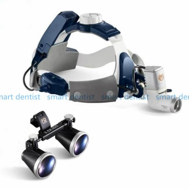 Good Quality 2017 New 5W LED Surgical Head Light dental Lamp All-in-Ones Headlight with loupes 2.5X , 3.5X