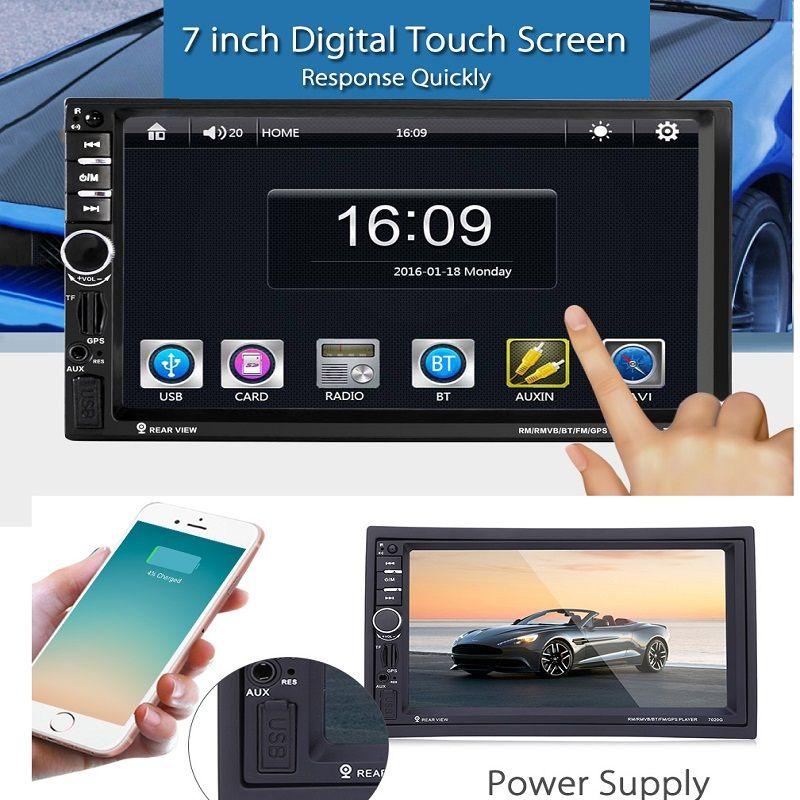 Univeral 2 Дин DVD видео плеер Сенсорный экран GPS навигации 1080 P hd-плеер usb mp4/mp5 Поддержка Bluetooth сзади вида Обратный