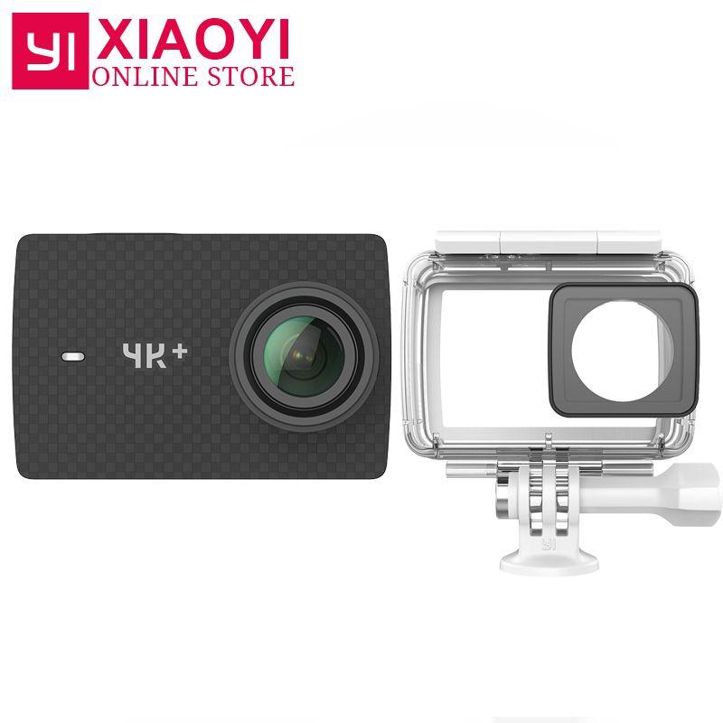 <font><b>International</b></font> Edition Xiaoyi YI 4K+ Action Camera Ambarella H2 4K/60fps 12MP 2.19 RAW 155 Degree 4K Plus Action Sports Camera