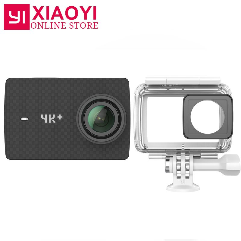 International Edition Xiaoyi YI 4K+ Action Camera Ambarella H2 4K/60fps <font><b>12MP</b></font> 2.19 RAW 155 Degree 4K Plus Action Sports Camera