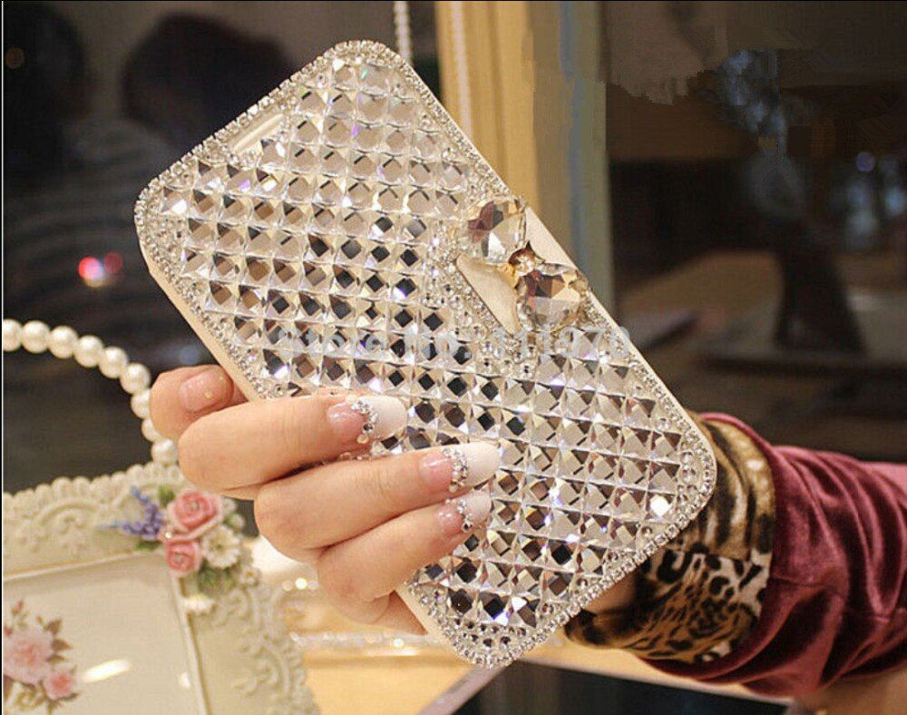 Luxury Bling Rhinestone Diamond for Samsung Galaxy Note 3 Note 4 Note5  S4 S5 S6 S7 S8 Plus Wallet Flip Phone Leather Case Cover