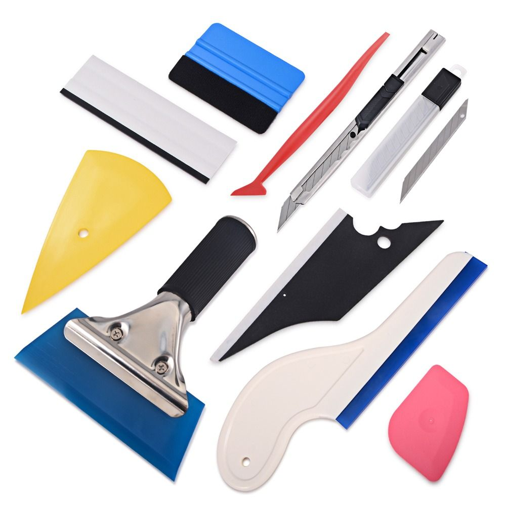 FOSHIO Window Tint Tool Kit Vinyl Car Wrap Stickers Tool Set Auto Car Accessories Carbon Foil Tinting Squeegee Film Cutter Knife