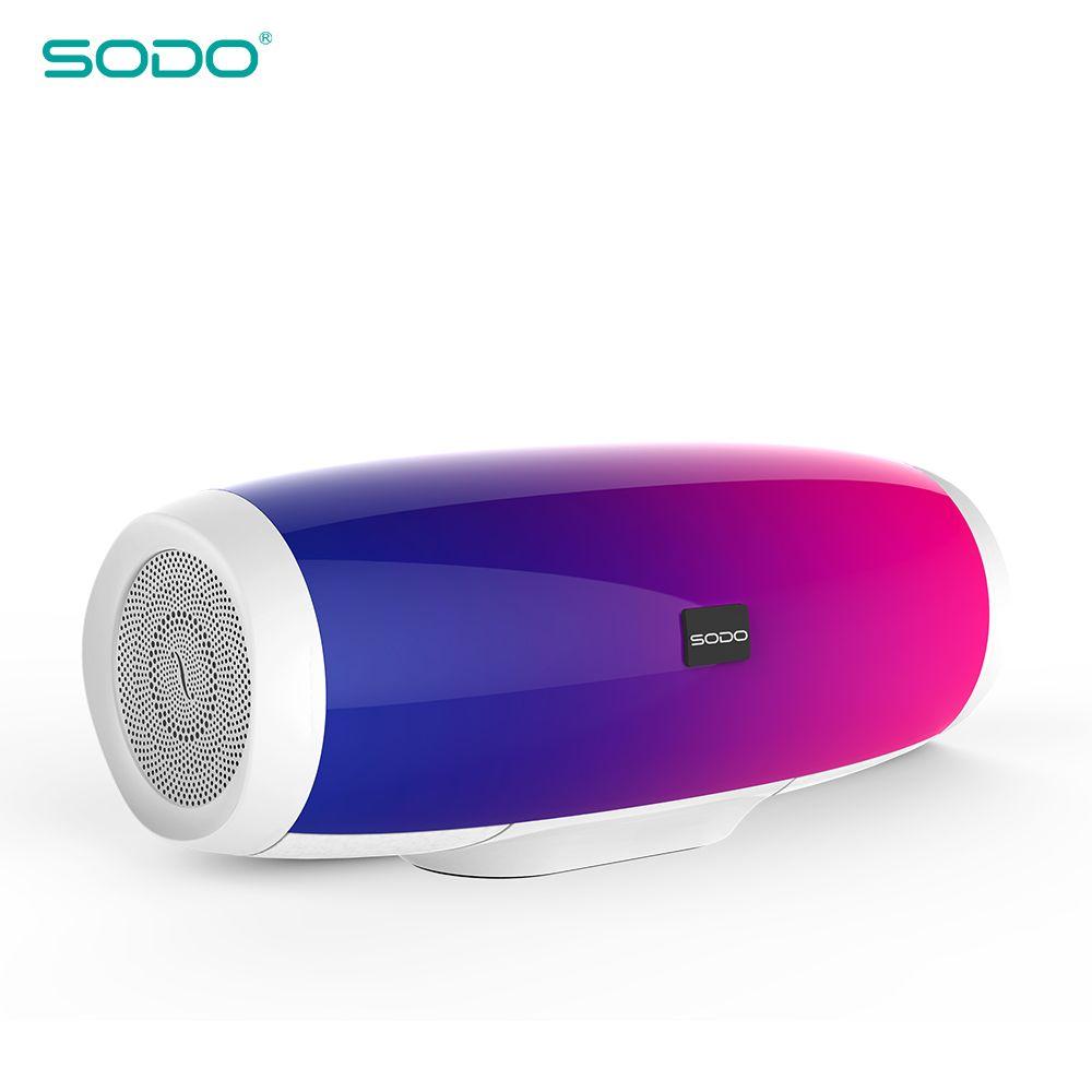 20 stücke SODO L1 Licht Zeigen 3D Sound Wireless Bluetooth Lautsprecher 10 W system FM Radio Musik Subwoofer Spalte Lautsprecher bluetooth 4,2