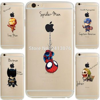 ciciber Marvel DC Comics Iron Man Spider-Man joker Batman soft silicone cover Case for iphone 7 6 S 8 plus 5S SE X XR XS MAX