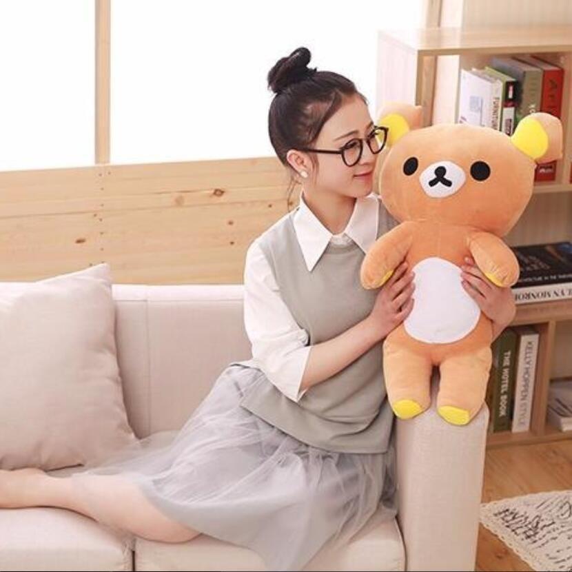 35 cm/60 cm Kawaii grand brun japonais style rilakkuma peluche poupée animaux Jouet en peluche en peluche ours en peluche d'anniversaire cadeau