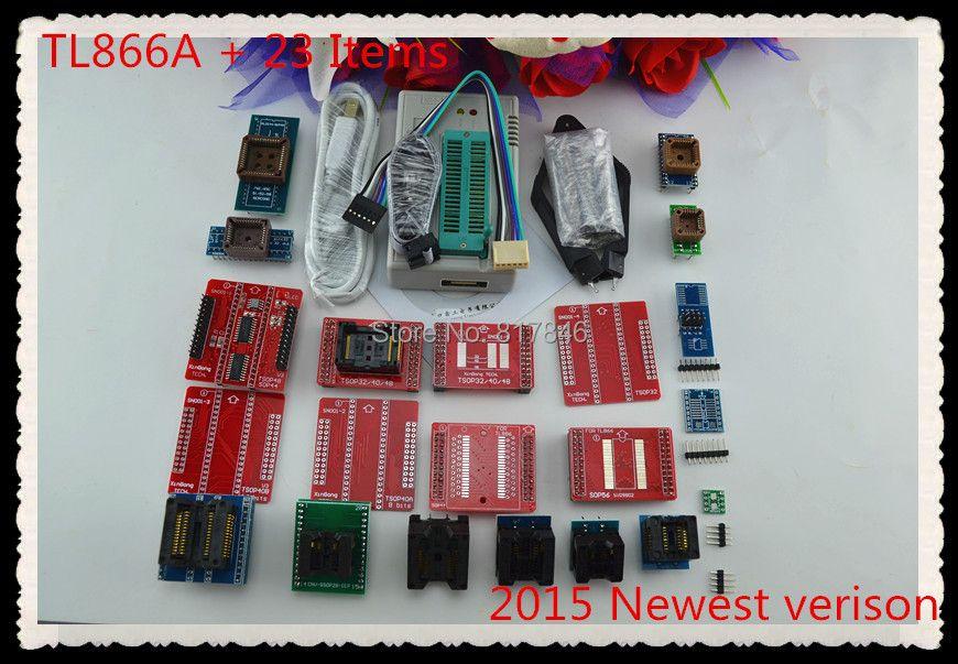 V6.6 Original TL866A Universal minipro programmierer TL866 AVR PIC Bios Usb-programmierer + 24 adapter + V1.8 Russian English hand