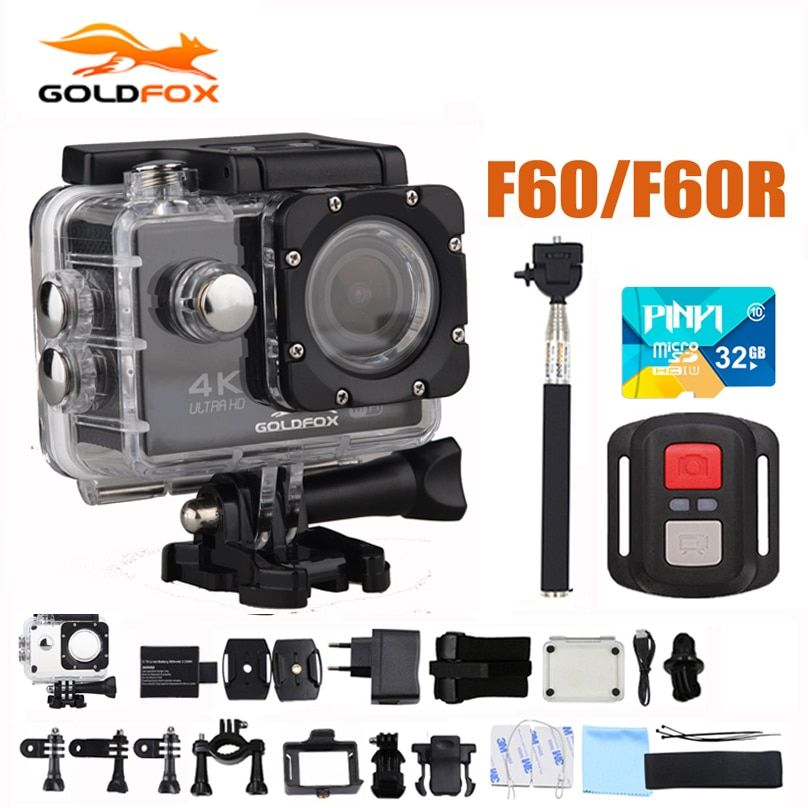 Action Camera F60/F60R Allwinner V3 Ultra HD 4K 30FPS 1080P 60FPS WIFI Sport Camera 30M Go Waterproof Pro Bike Helmet Mini Cam