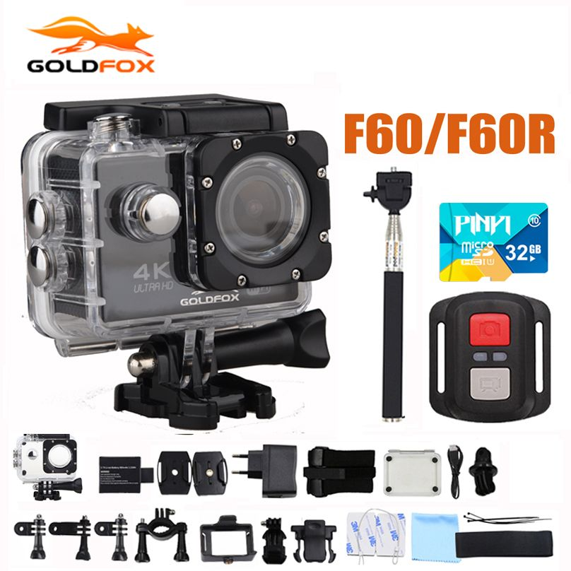 Action Camera F60/F60R Allwinner V3 Ultra HD 4K <font><b>30FPS</b></font> 1080P 60FPS WIFI Sport Camera 30M Go Waterproof Pro Bike Helmet Mini Cam