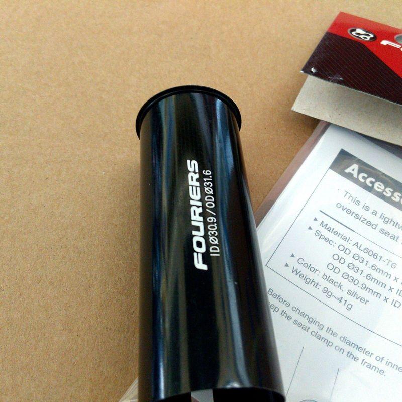 Cale de tige de selle de vélo en Aluminium Fouriers convertir 31.6mm à 30.9mm réducteur de tige de selle 90mm