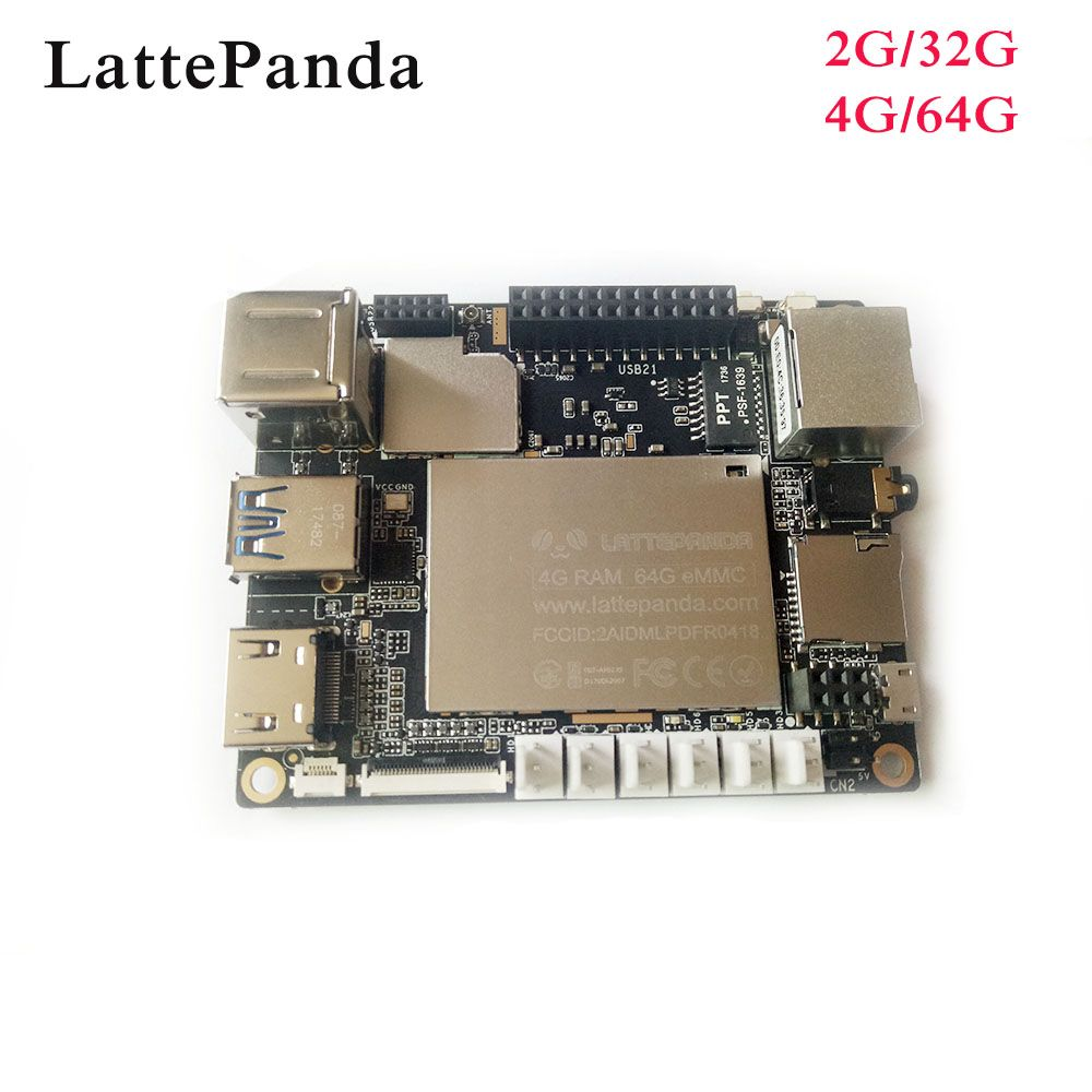 LattePanda 4G/64GB board, Intel X86 X64 Z8350 Quad Core 1.8GHz Full Windows 10/Linux ArduinoATmega32u4 on board,Deep Learning