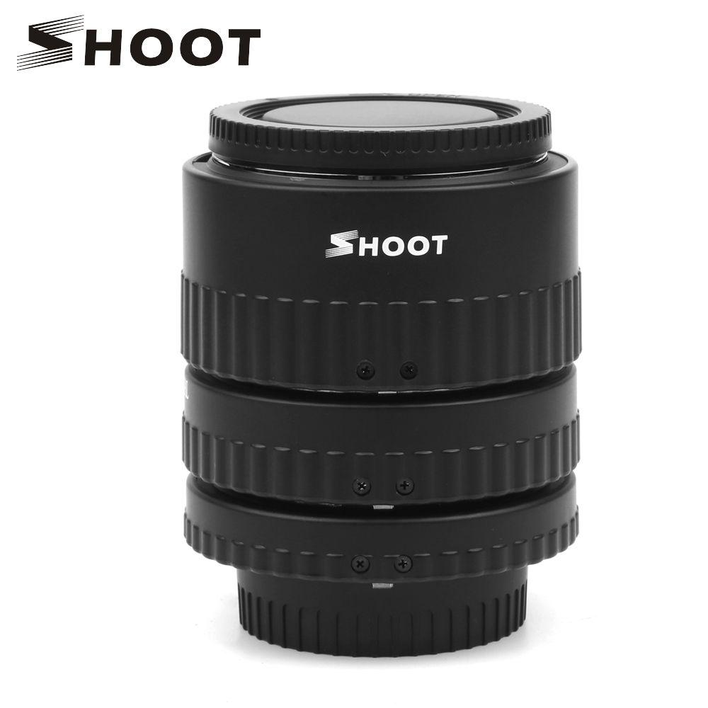 SHOOT Metal Mount Plastic Auto Focus N-AF Macro Extension Tube Set 12mm 20mm 36mm Black For NIKON SLR Cameras Nikon D7100 D5100
