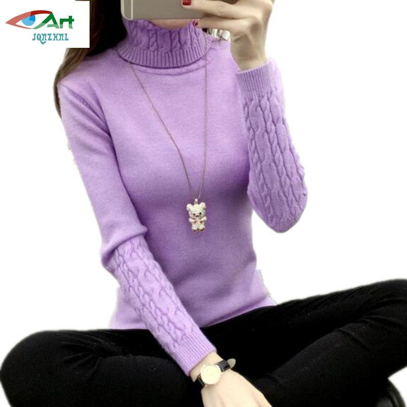 JQNZHNL Women Turtleneck Winter Sweater Women 2018 Long Sleeve Knitted Women Sweaters And Pullovers Female Jumper Warm TopsAS296
