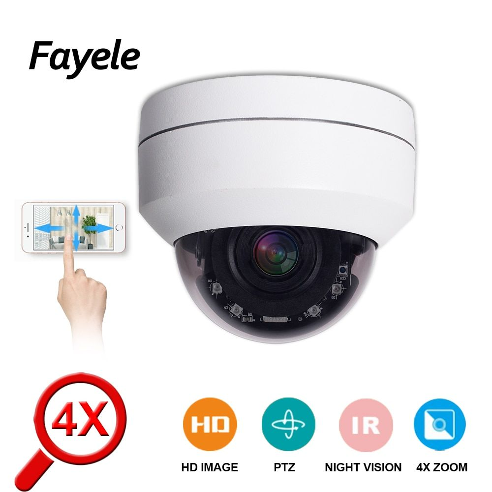 POE 5MP Vitesse Dôme PTZ Caméra MINI HD 1080 P H.265 CCTV de Sécurité IP Caméra 4X Zoom objectif Motorisé 2MP pan Tilt IR 50 M P2P ONVIF