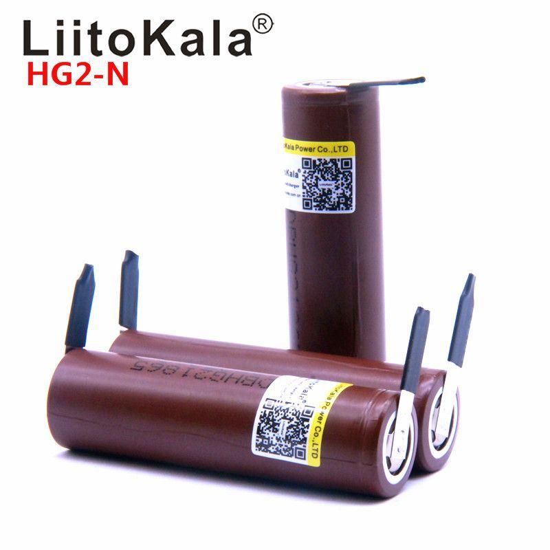LiitoKala für HG2 18650 18650 3000 mah elektronische zigarette akku power hohe entladung, 30A großen strom + DIY nicke