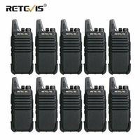 Шт. 10 шт. Retevis RT22 мини двухканальные рации Вт 2 Вт VOX USB зарядка портативный двухстороннее радио станции отель/Ресторан связь оборудования