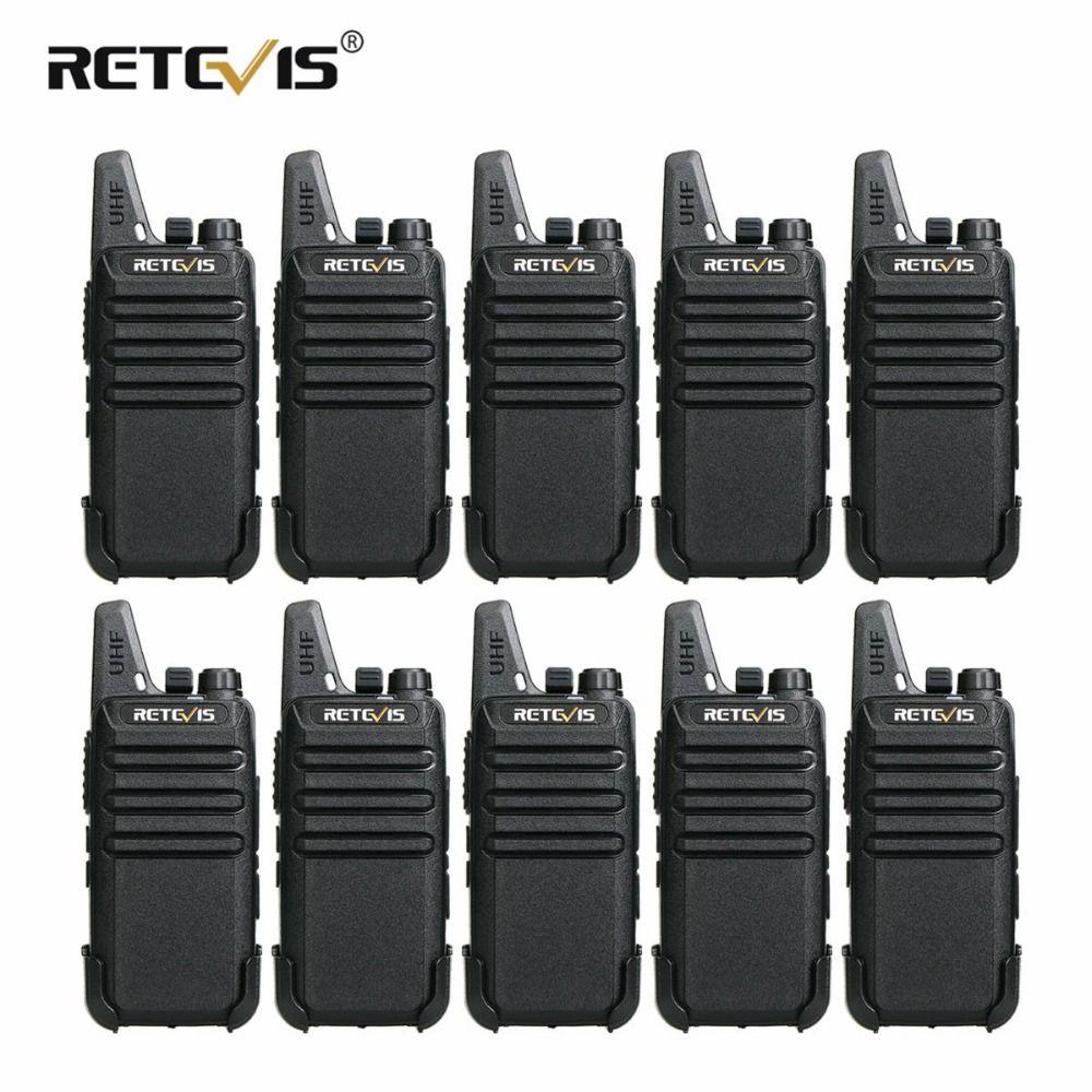 10 pcs Retevis RT22 Mini Walkie Talkie 2W VOX USB Charge Portable Two Way Radio Station Hotel/Restaurant Communication Equipment