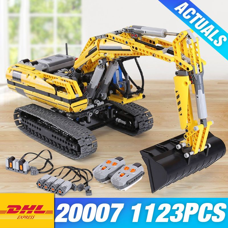 DHL LEPIN 20007 TECHNIC Motorized Excavator 8043 Building Blocks Bricks DIY 20008 VOLVO L350F Wheel Loader 42030 Children Toys