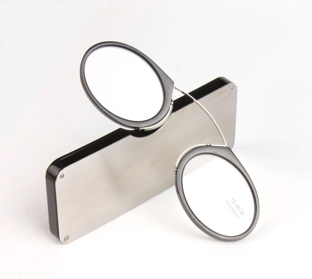 Pince Portable nez presbyte lunettes portefeuille lecture lunettes avec étui mini presbyte lunettes taille verre d'urgence