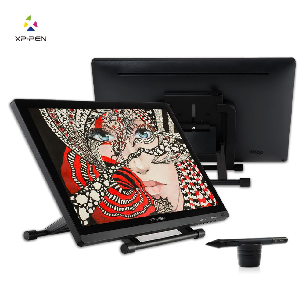 XP-Pen 21.5 HD IPS Graphic Tablet Interactive Monitor Full <font><b>View</b></font> Angle Extended Mode Display for Apple Macbook supporting HDMI