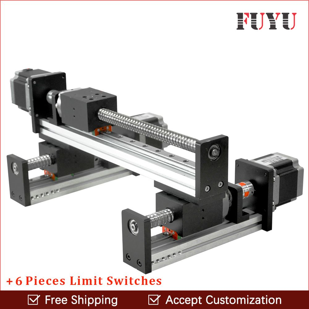 FLS40 Ball screw linear rail guide slide module table actuator for cnc XY motion robotic arm parts motorized router kits