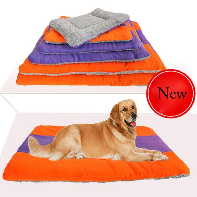 6 Größe Bett Für Small Medium Large Hunde Weicher Haustierhundebett Matten PP Baumwolle Pet Betten Für Große Haustiere Katzen Warm Pet Cat House Kissen