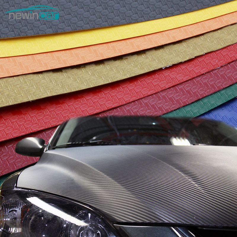 Car Styling Autocollant De Voiture 200X50 cm 3D 4D En Fiber De Carbone Vinyle Film 3 m Étanche DIY Wrap Avec emballage de détail Moto