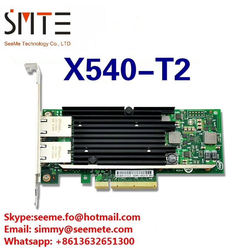 X540-T2 10G Dual RJ45 Port PCI-E Ethernet Network Adapter compatible with INTEL