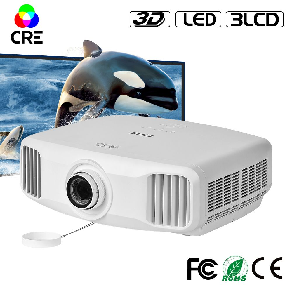 CRE X8000 домашний кинотеатр 1080 P 3lcd проектор для школы 3D проектор портативный проектор Full HD 4 К Cinema Android wi-Fi