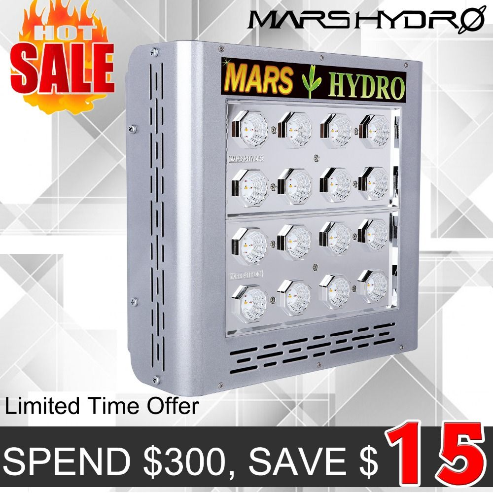 Mars ProII Epistar 80 LED Grow Light Full Spectrum Hydroponics for Greenhouse 166W Veg Bloom Switches