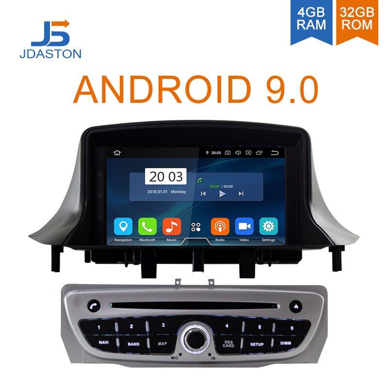 JDASTON Android 9.0 Auto DVD Player Für RENAULT Megane Fluence 3 2009-2013 Octa Cores 4G + 32G multimedia GPS Stereo WIFI Radio RDS