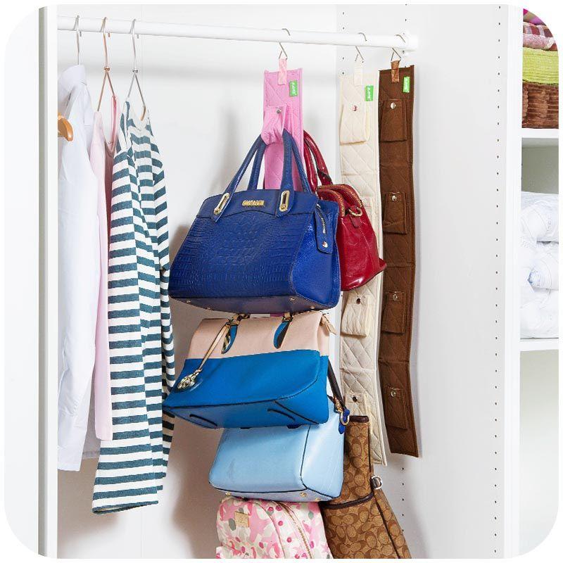 Placard organisadores case durable porte poches mode sacs à main finition suspendus sacs organisateur accrocher sac de rangement