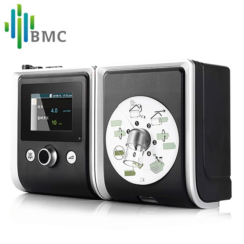 BMC GII CPAP Gerät Tragbare Ruhig Atemschutz Mit Maske Luftbefeuchter Filter Kunststoff Schlauch Tasche Die Beste Schlaf Schnarchen Lösung
