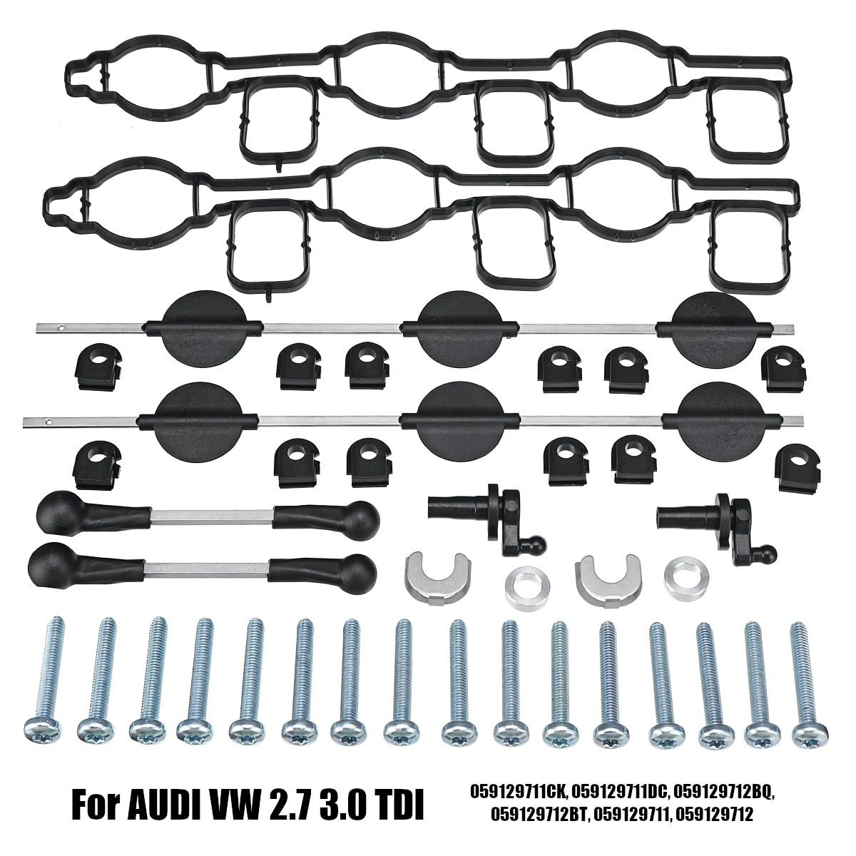 Einlass Saugrohr Swirl Klappen Set für AUDI für VW 2,7 TDI A4 A5 A6 A8 Touareg 059129711CK 059129711DC 059129712BQ 059129712B