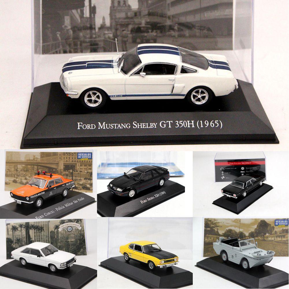 1:43 Altaya IXO Ford Mustang/Corcel/Pampa/Sierra XR4/Escort XR3/Fiesta/GPA Marinha/F75/Galaxie/Capri Diecast Models Toy Cars