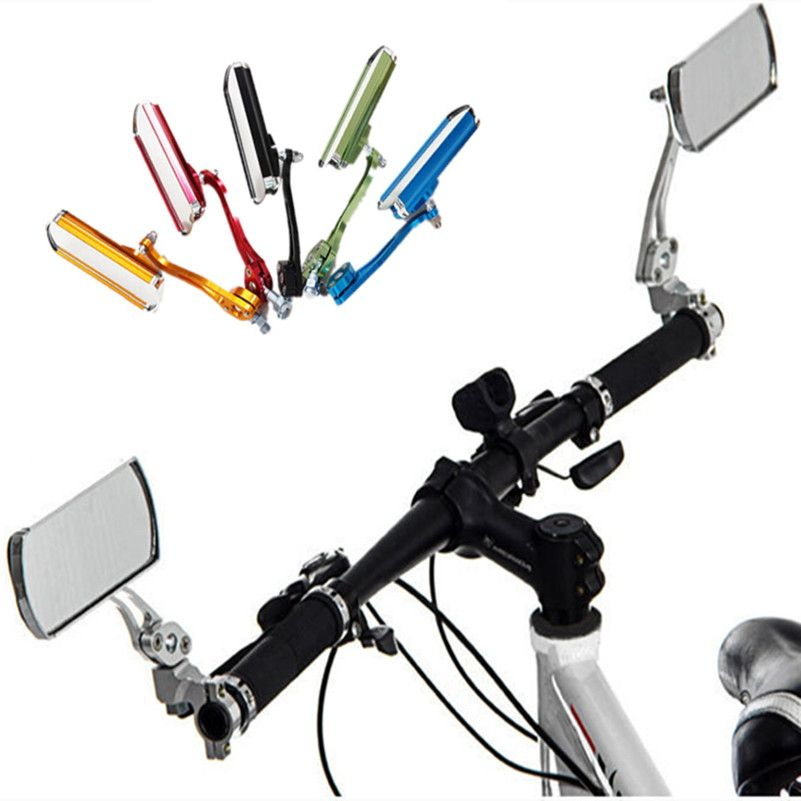 WEST BIKING Bicycle Handlebar Rearview Mirror Aluminum Cycling Rear View Mirrors Back Mirrors Reflector Bicycle Rearview Mirror