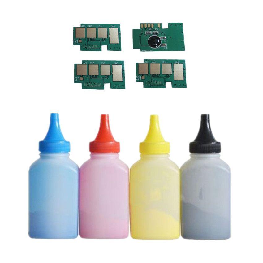 4 x Refill-farbtonerpulver + 4 chip CLT-504S clt504s tonerkartusche für Samsung CLP-415N CLP-415NW CLP-470 C1810W C1860FW