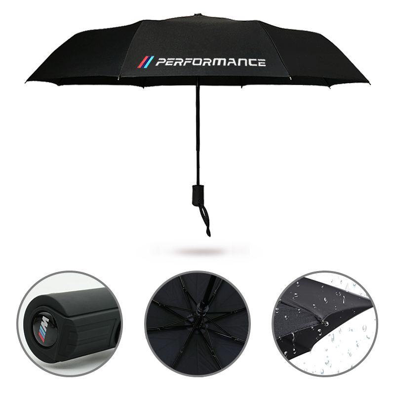 Car Logo Umbrella Sticker For BMW X5 X3 X6 E46 E39 E38 E90 E60 E36 F30 F30 E34 F10 F20 E92 E38 E91 E53 E87 M3 M5 Car Accessories
