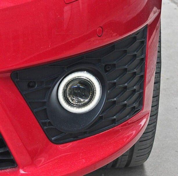 Eosuns инновационные УДАРА Ангел глаз светодиодные дневного света DRL + halo туман + объектив проектора для сиденья Leon Cupra FR