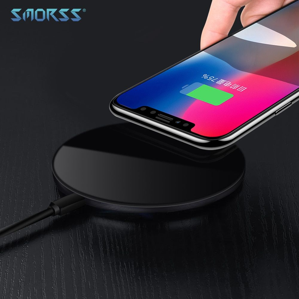 SMORSS 15W Wireless Fast Charger 5V 9V 12V Wireless Charging Pad for iPhone X 8 8 Plus for Samsung Galaxy S7 / S8 / S8+/ S6 edge