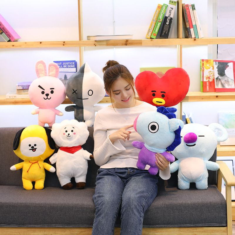 7pcs/set BTS Kpop Bangtan Boys Plush Dolls Bt21 Vapp Pillow Solft Cushion Toys TATA VAN COOKY CHIMMY SHOOKY KOYA VAN