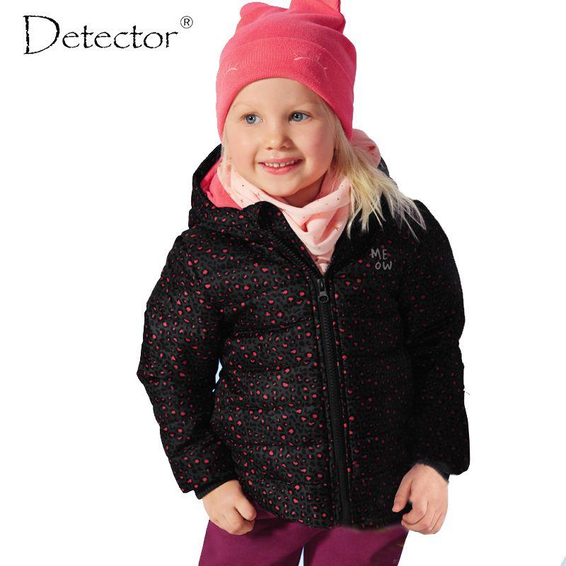 Detector Girls Sports Coat Children's Autumn Winter Clothes Kid's Waterproof Windproof Jacket Girls Warm Outdoor Coat