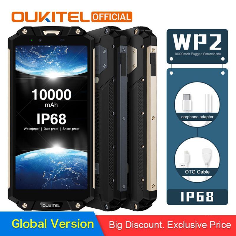 OUKITEL WP2 IP68 Wasserdicht Staub Shock Proof Handy 4 gb 64 gb MT6750T Octa Core 6,0